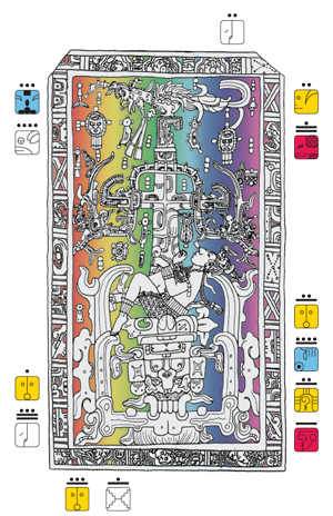 Graphic of sarcophagus lid
