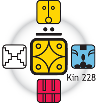 [Fifth Force Oracle graphic for Kin 228]