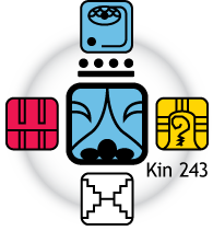 [Fifth Force Oracle graphic for Kin 243]