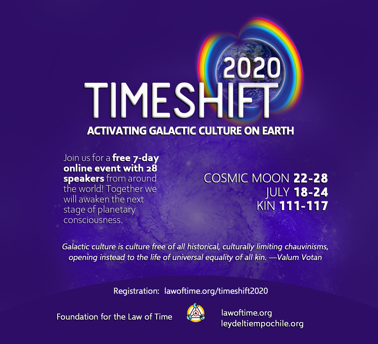 Timeshift 2020: Activating Galactic Culture